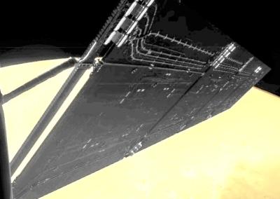 Rosetta solar pannel Mars detail