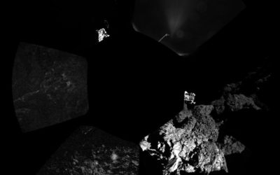 First panorama around the lander
